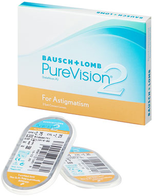 PureVision<sup>®</sup>2 for Astigmatism  (для астигматизма)<br><h3>Мягкие контактные линзы, 3 шт</h3>